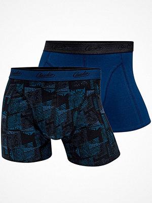 Claudio 2-pack Mens Trunk Blue Pattern