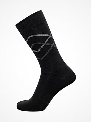 Claudio Mens Pattern Sock Black/Grey