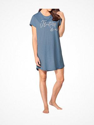 Triumph Lounge Me Cotton Nightdresses NDK 01 Blue