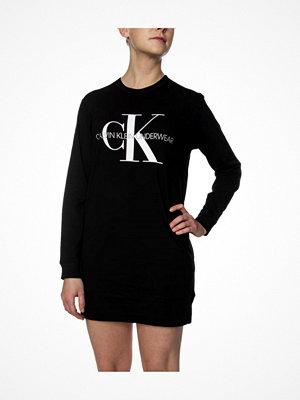 Calvin Klein Monogram LS Nightshirt Black