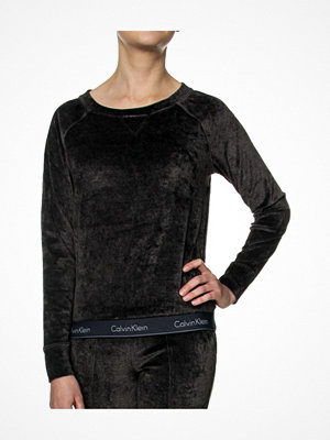 Calvin Klein Modern Cotton Velour LS Sweatshirt Darkgrey