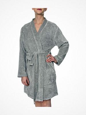 Calvin Klein Quilted Robe Grey