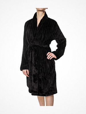 Morgonrockar - Calvin Klein Fluffy Robe Black