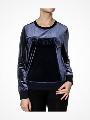 Calvin Klein Cotton Coord LS Velour Sweatshirt Darkblue
