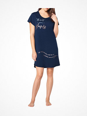 Triumph Lounge Me Cotton Nightdresses NDK 01 Darkblue