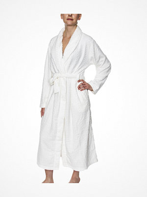 Morgonrockar - Damella Fleece Cable Robe White