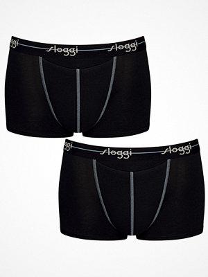 Sloggi 2-pack Men Start Horizontal Opening Hipster Black