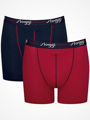 Sloggi 2-pack Men Start Horizontal Opening Short Blue/Red