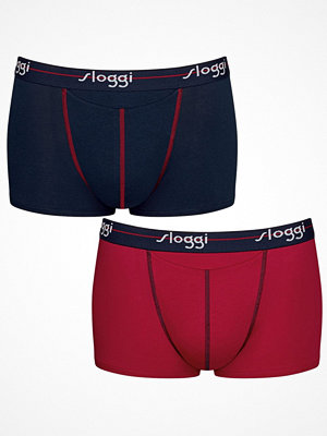 Sloggi 2-pack Men Start Horizontal Opening Hipster Blue/Red