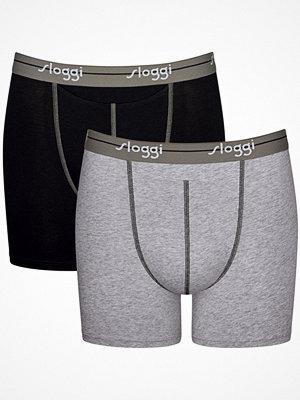 Sloggi 2-pack Men Start Horizontal Opening Short Black/Grey