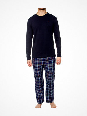 Tommy Hilfiger Cotton Icon Woven Set LS Navy pattern