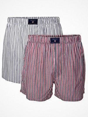 Gant 2-pack Stripe Woven Boxer Shorts Blue/Red