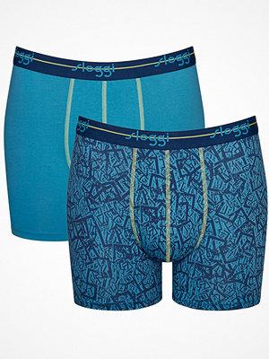 Sloggi 2-pack Men Start Short C2P Blue Pattern