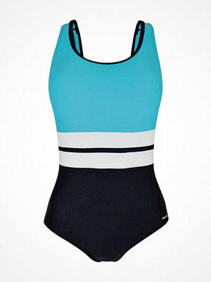 Baddräkter - Abecita Piquant Swimsuit Black/Blue