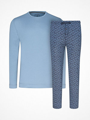 Jockey Pyjama Knit Long Sleeve 02 Denim-2