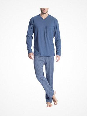 Pyjamas & myskläder - Calida Relax Imprint 1 Pyjama Blue
