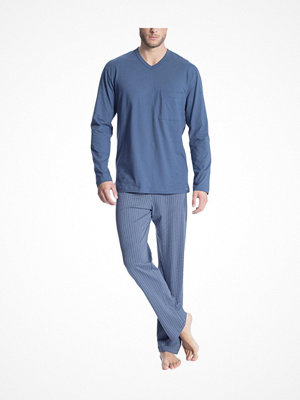 Calida Relax Imprint 1 Pyjama 40180 Blue