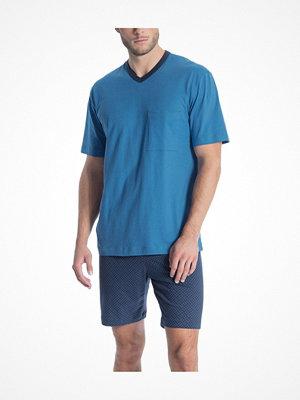Calida Relax Imprint 1 Short Pyjama Blue Pattern