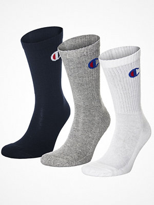 Champion 3-pack 3PP Crew Socks Grey/Blue