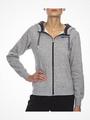 Pyjamas & myskläder - Champion Hooded Full Zip Sweatshirt W Grey
