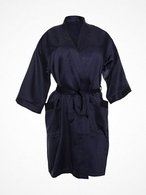 Morgonrockar - Damella Satin Robe Navy-2