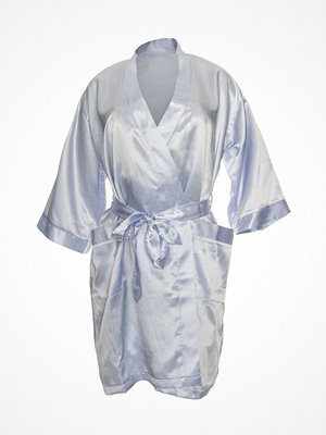 Damella Satin Robe Lightblue