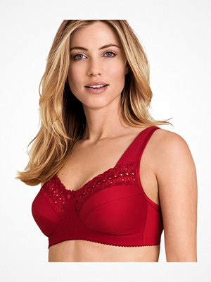 Miss Mary of Sweden Miss Mary Broderie Anglais Soft Bra Red