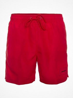 Badkläder - Calvin Klein Core Solids Drawstring Swim Shorts Red