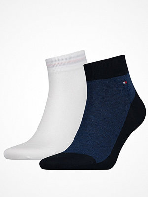 Tommy Hilfiger 2-pack Men Micro Quarter Sock White/Navy