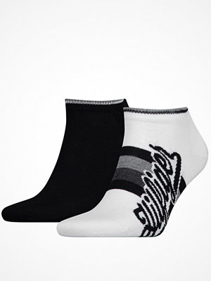 Tommy Hilfiger 2-pack Men Hilfiger Sneaker Sock Black/White