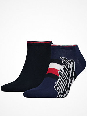 Tommy Hilfiger 2-pack Men Hilfiger Sneaker Sock Blue/Red