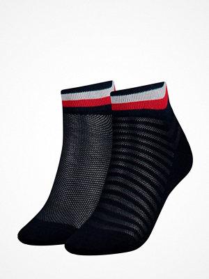 Strumpor - Tommy Hilfiger 2-pack Women Resort Short Sock Darkblue