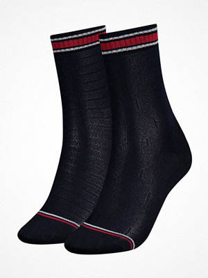 Tommy Hilfiger 2-pack Women TH All Over Sock Darkblue