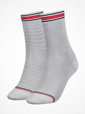 Tommy Hilfiger 2-pack Women TH All Over Sock White