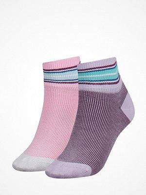 Tommy Hilfiger 2-pack Women Indie Stripe Short Sock Pink/Lilac