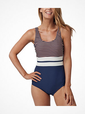Baddräkter - Abecita Retro Navy Swimsuit Navy Striped