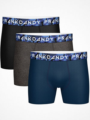Frank Dandy 3-pack Solid Boxer Camo  Navy/Grey