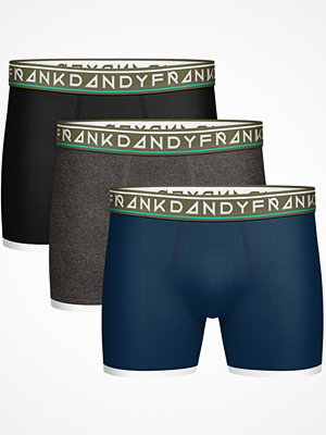 Frank Dandy 3-pack St Paul Bamboo Boxers Navy/Grey
