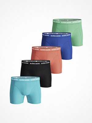 Björn Borg 5-pack Essential Shorts Solids Blue/Green