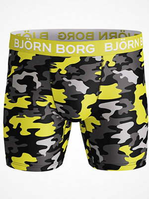 Björn Borg Performance Wild Camo Shorts Yellow Pattern