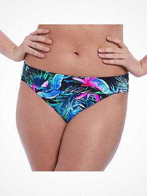 Freya Jungle Flower Fold Bikini Brief Black pattern-2