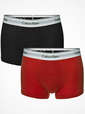 Calvin Klein 2-pack Modern Cotton Stretch Trunks Grey/Red