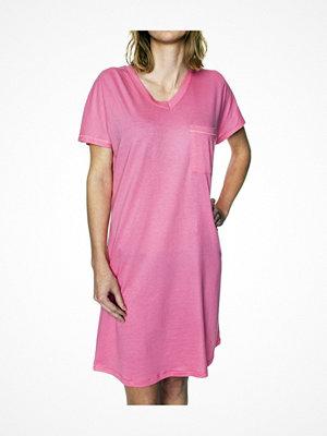 Damella Cotton-Modal Plain Nightdress Pink