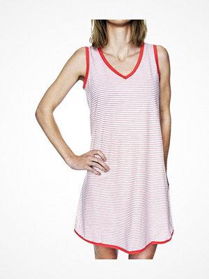 Damella Cotton Strip Nightdress Apricot