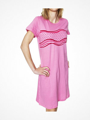 Damella Stars And Waves Nightdress Pink