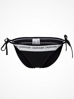Calvin Klein CK Logo String Side Tie Bikini Black