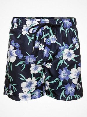 Badkläder - Gant Garden Floral Swim Shorts Classic Fit Blue