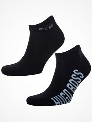 Strumpor - Hugo Boss 2-pack BOSS Logo CC Ankle Socks Darkblue