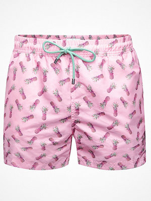 Badkläder - Panos Emporio Pineapple Apollo Swim Shorts Pink Pattern