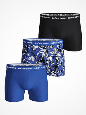 Björn Borg 3-pack Essential Fleur De Jardin Sammy Shorts Black/Blue